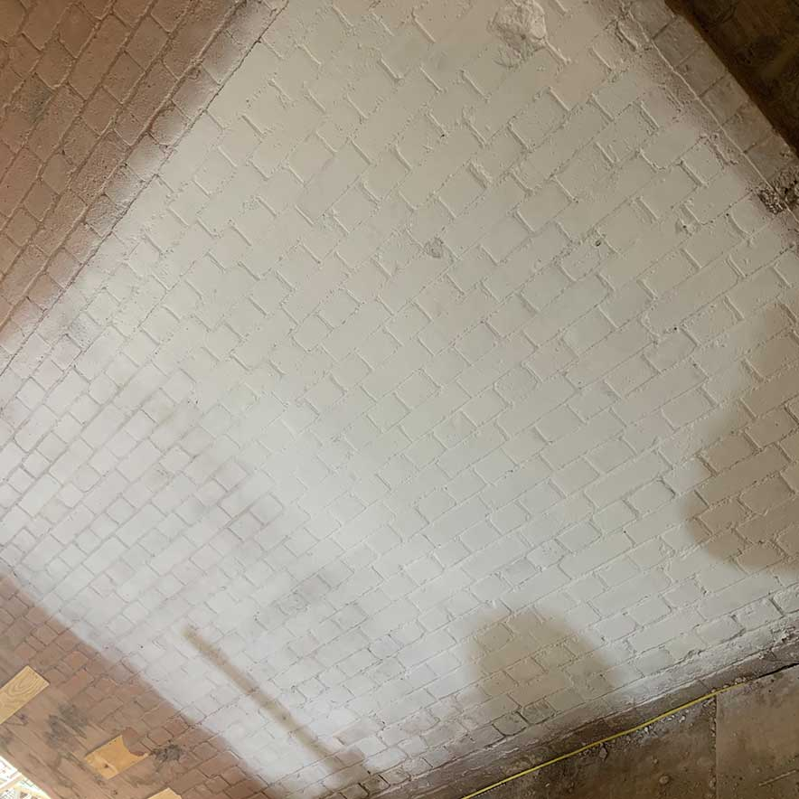 Rose of Jericho Limewash Samples at Rugby School