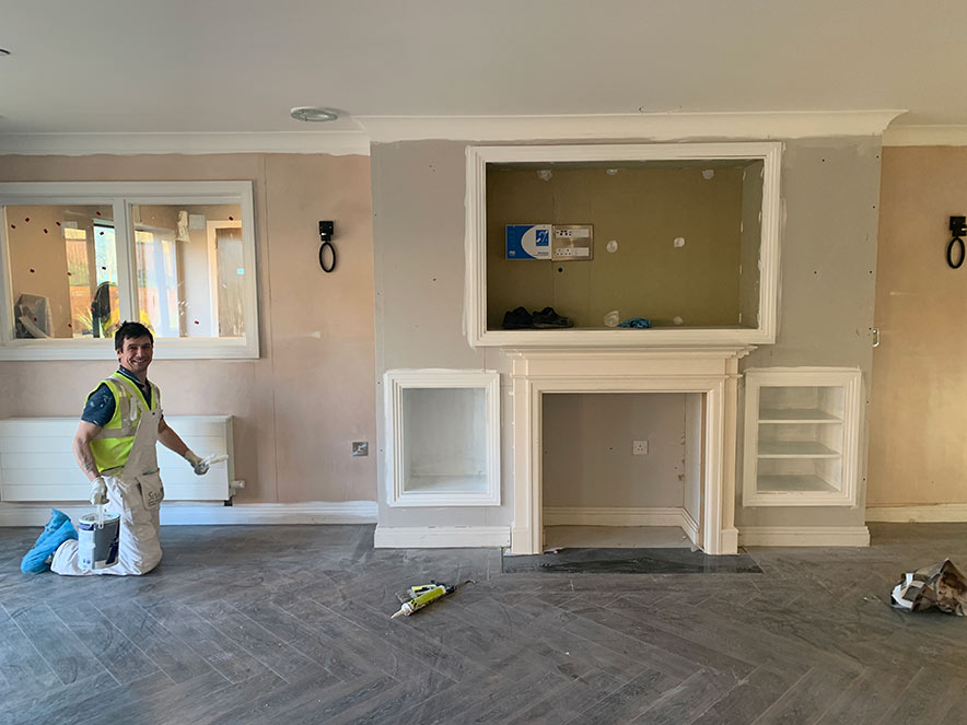 Painting and decorating of a high quality 90 bedroom nursing homeme
