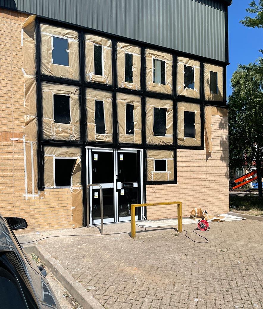 Alluminium Windows After Spraying